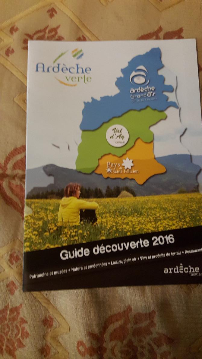 Et dans les revues de l'office de Tourisme de l'Ardèche