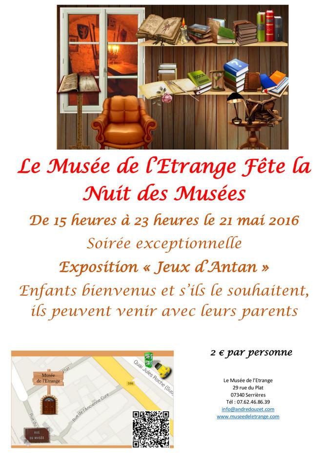 Nuit des Musées 21 mai 2016