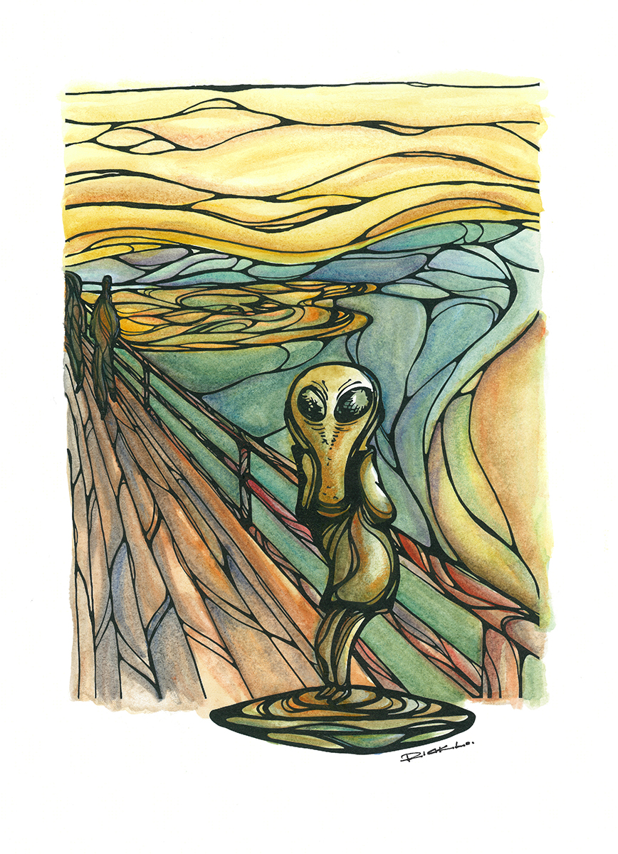 The Scream in Roswell