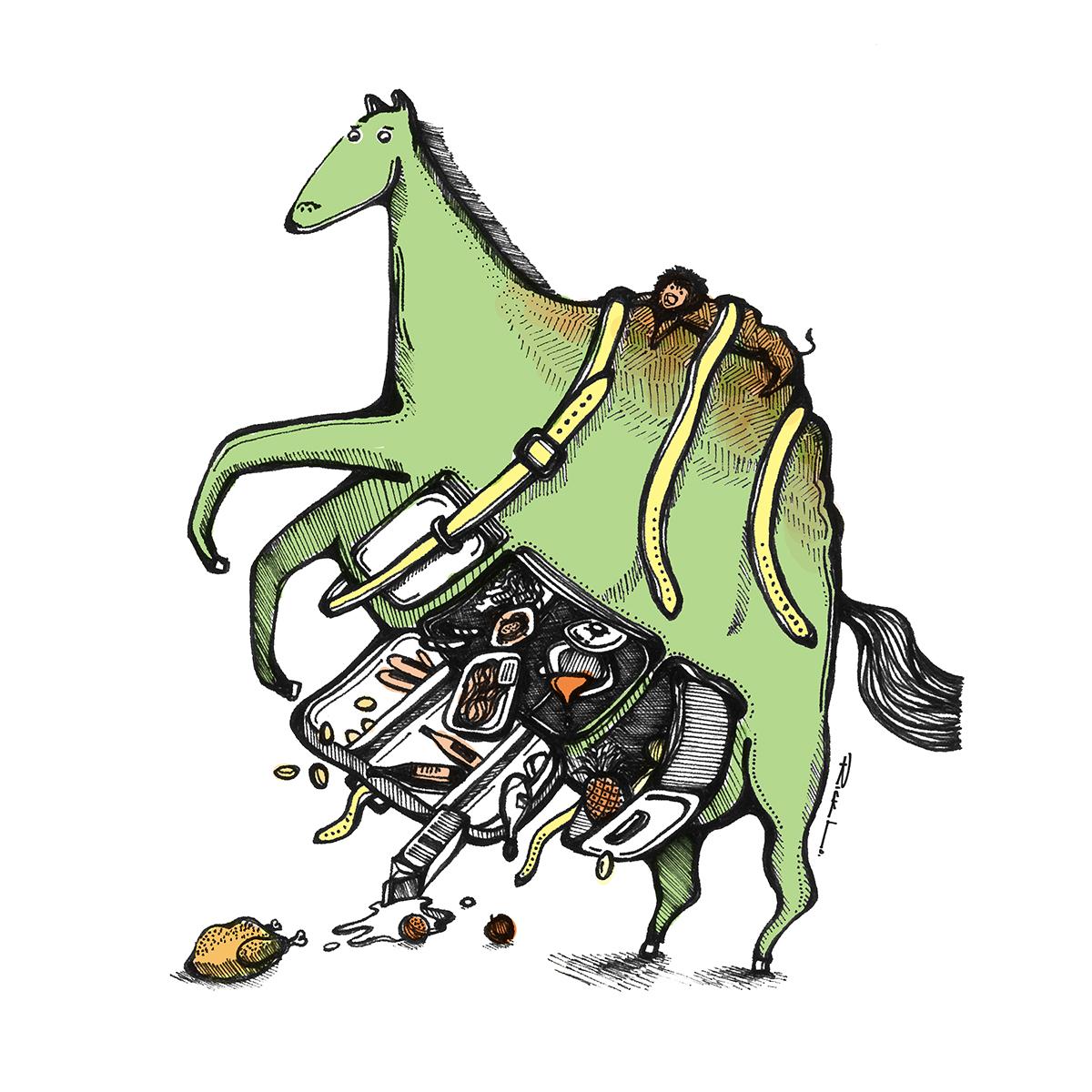 A Fridge, a Horse & the Lion Rock