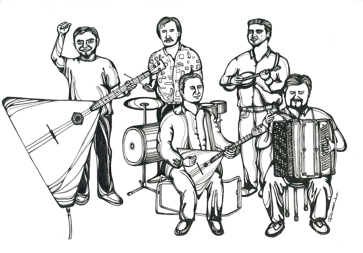 Street Band in Switzerland
