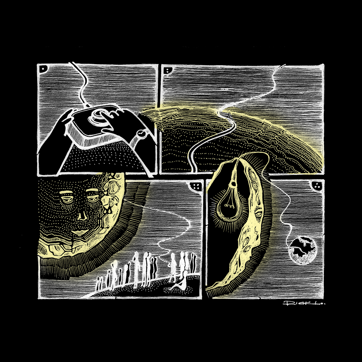 Lights up the Moon (Black)