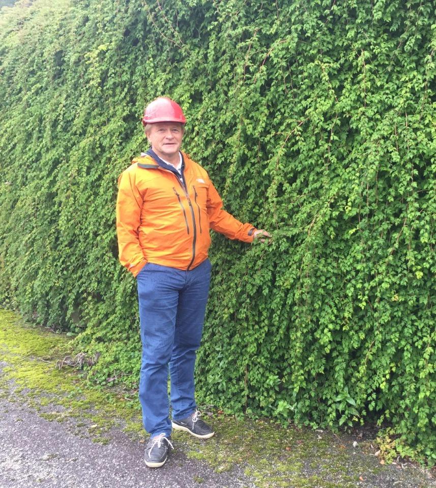 Bengt Borsheim ved Flettemuren
