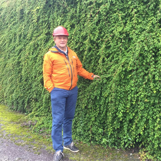 Bengt Borsheim med en grønn Flettemur