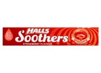 Halls Soothers Strawberry Juice Sweets 45g