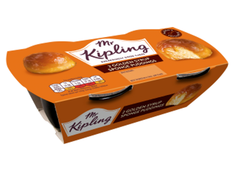 Mr Kipling Golden Syrup Sponge Puddings 108g