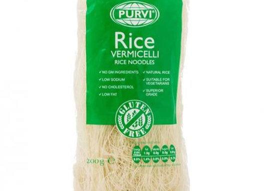 Purvi White Rice Vermicelli Noodles 200g