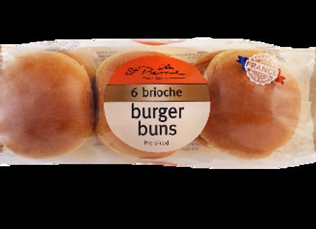 St. Pierre Brioche Burger Buns 6s 300g