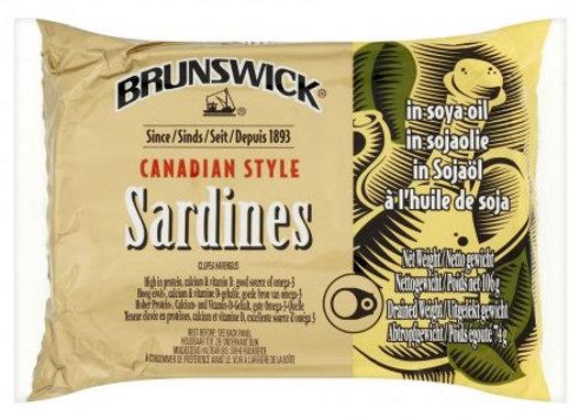 Brunswick Sardines In Soya Oil 106g