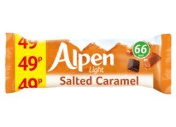 Alpen Light Cereal Bars Salted Caramel 19g