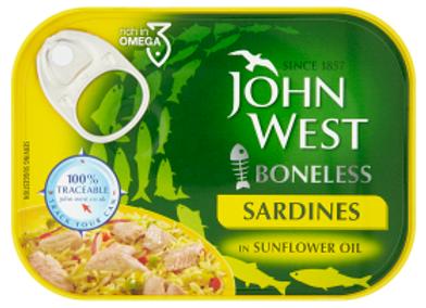 John West Boneless Sardines in Sunflower Oil 120g