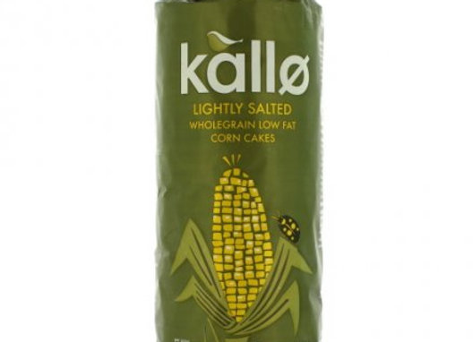 Kallo Wholegrain Lightly Salted Corn Cakes 130g