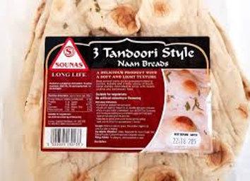 Sounas Plain Tandoori Naan Breads 3's
