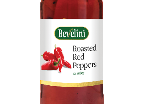Bevelini Roasted Red Peppers 465g