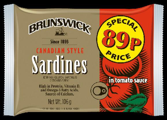 Brunswick Sardines in Tomato Sauce 106g