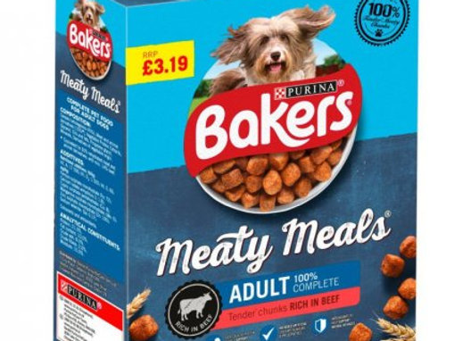 Bakers Beef Meaty Meals Dog Food 1kg