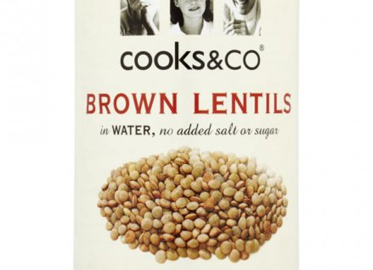Cooks & Co Brown Lentils in Water 400g