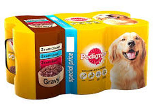 Pedigree Dog Food Tins Mixed Variety in Gravy 6x400g