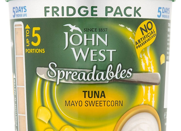 John West Spreadables Tuna Mayo Sweetcorn Fridge Pack 255g