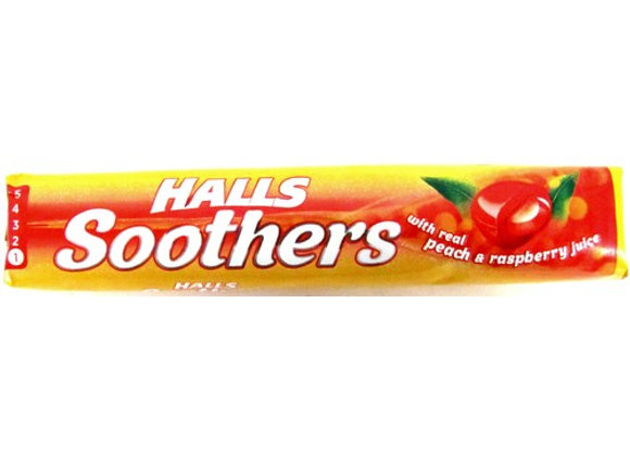 Halls Soothers Peach&Raspberry Juice Sweets 45g