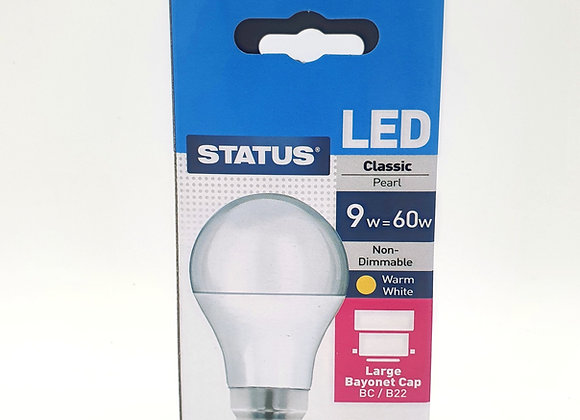 Led Bc Pearl Warm White Light Bulb 60w