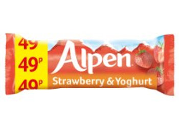 Alpen Cereal Bars Strawberry and Yoghurt 29g