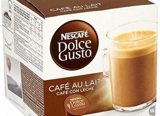 Nescafe Dolce Gusto 16 Capsules Cafe Au Lait 160g