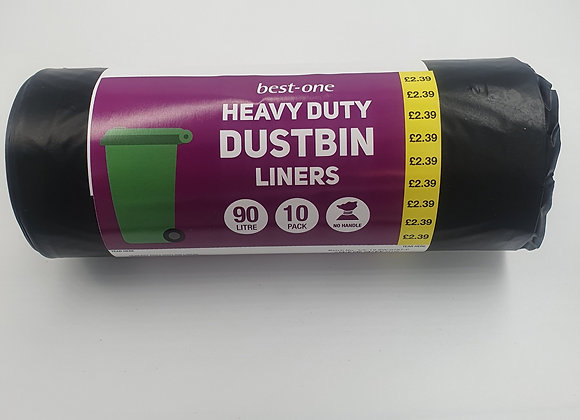 Heavy Duty Dustbin Liners 90L
