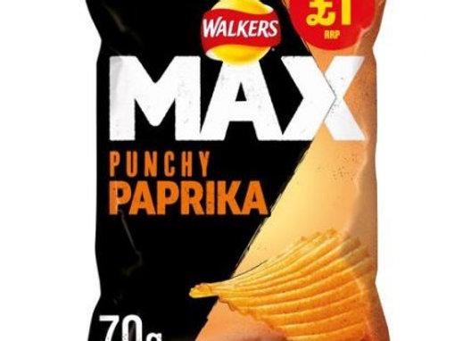Walkers Max Punchy Paprika 70g