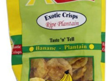 Exotic Plantain Unsalted Chips 75g
