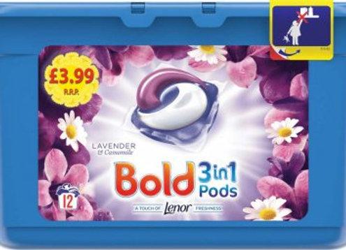 Bold 3 in 1 Pods Lavender 12's