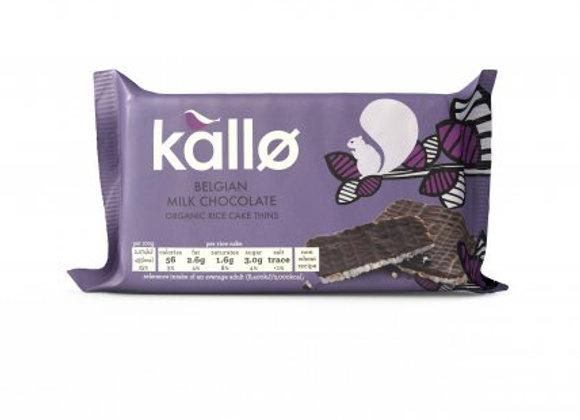 Kallo Milk Chocolate Rice Cakes 100g
