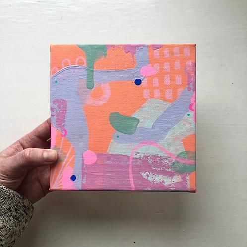 Original Art Mini Canvas 15 x 15 cm