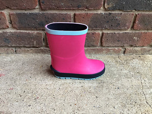 Clarks Mudder Run Pink Wellies