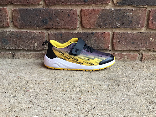 Clarks Aeon Pace Kid Black/Yellow Trainer
