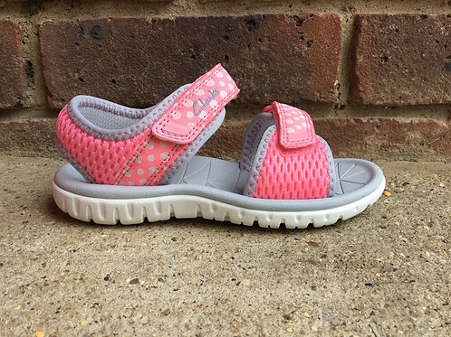 Clarks Surfing Tide PinkF Fit