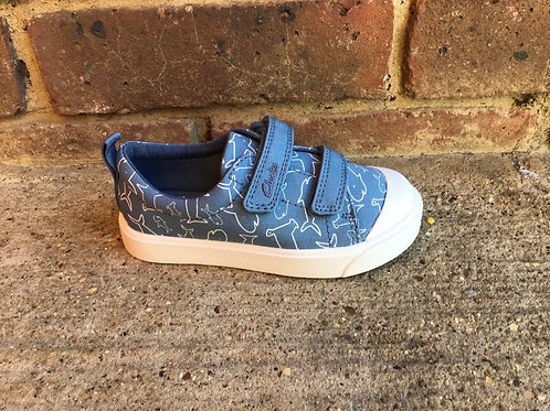Clarks City Bright Mid  Blue G Fit