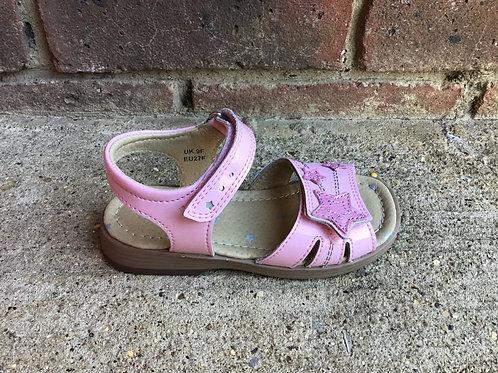 Startrite Twinkle Pink Glitter Patent Sandal F Fit