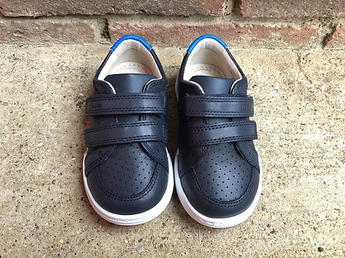 Fawn Solo Navy Leather Casual Shoe G Fit
