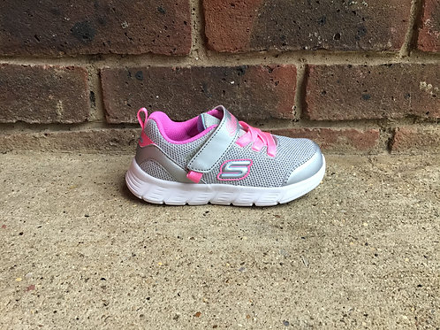 Skechers Comfy Flex Moving On Silver/Hot Pink