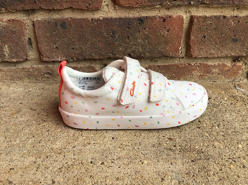 Clarks Foxing Print Off White F Fit