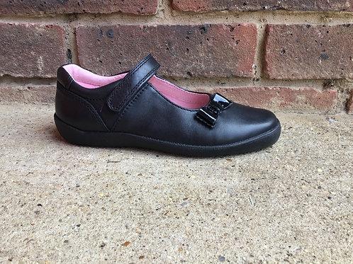 Startrite Giggle Black Leather School Shoe