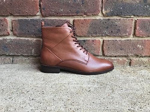 Caprice Cognac Soft Ladies Ankle Boots