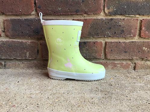 Grass & Air Little Kids Lime Green Colour-Revealing Wellies