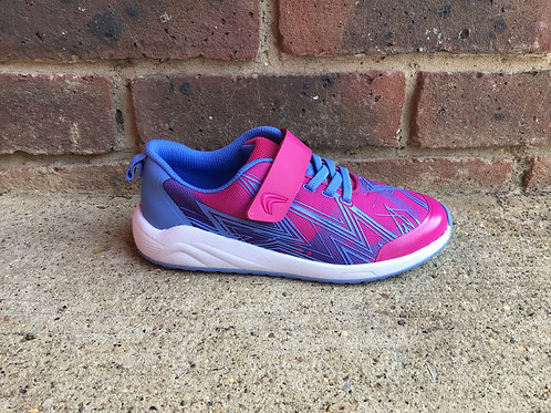 Clarks Aeon Pace Kid Pink Combi Trainer F Fit