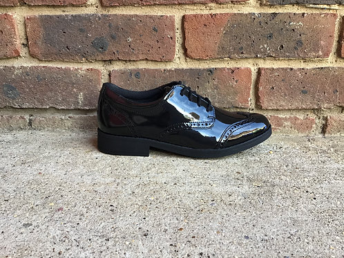 Clarks Aubrie Craft Youth Black Patent