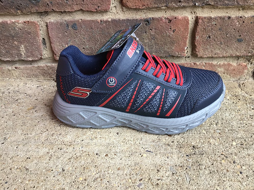 Skechers S Lights Dynamic Flash Navy/Red