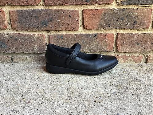 Clarks Etch Bright Kid Black Leather