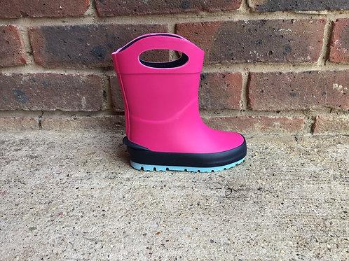 Clarks Mudder Dash Pink Wellies