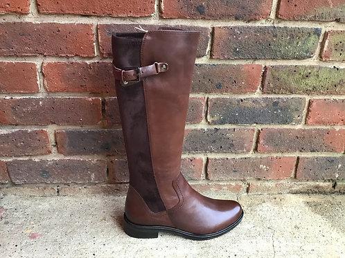 Caprice Dark Brown Nappa Long Boot